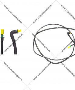 شلنگ بنزین زیر اتاق مدل زیمنس پژو 405 سمند پرشیا مدلهای 1386 تا 1393 کد 16606318